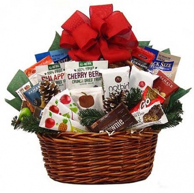 No Guilt Holiday Snack Basket